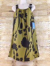 NWT Simply Vera Vera Wang 2P Floral Calligraphy Polyester Short Tent Dress