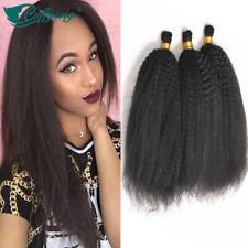 100% Brazilian Virgin Human Hair Bulk Kinky Straight Bulk Hair For Braiding