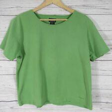 Patagonia T Shirt Womens Large L Green Organic Cotton