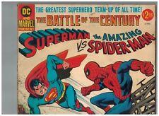 Superman vs the Amazing Spider-Man Treasury!  1976 DC and Marvel Present VG/Fi