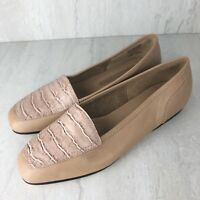 Enzo Angiolini Women's Leather Loafers 'Liberty' Tan Snake Skin Size US 6 Shoes