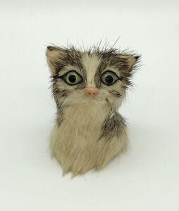 Katzenfigur Dekofigur Sammelfigur Sammler Katze Echtfell - Nachlass Vintage 7cm