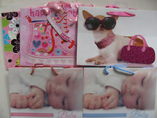 Gift Bags Various New Baby Chiwawa Basketball Boot Design Medium Tags Giftbags
