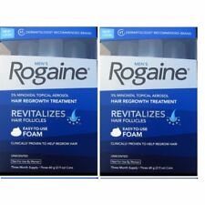 TWO BOXES - Men's ROGAINE Hair Regrowth Unscented Foam - FRESHNESS GUARANTEED