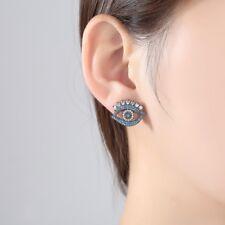 Evil Eye Piercing CZ Stud Earrings Brincos For Women Jewelry