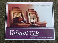 1967 VE CHRYSLER VALIANT  VIP  BROCHURE    100% GUARANTEE.