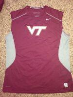 NEW Nike Pro Combat Virginia Tech Hokies Mens Sleeveless Athletic Shirt 3XL