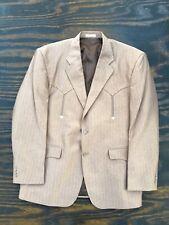 Vtg Laredo Brown Microfiber Mens Western Cut Suit Blazer 48R Mint Condition!