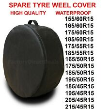 "R15""  SPARE TYRE COVER WHEEL PROTECTIVE TYRE BAG SPACE SAVER FOR ANY CAR D40"