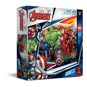 1000pc Marvel Avengers 68.5 x 50.5cm Kids Jigsaw Puzzle Cartoon Core Team 8y+