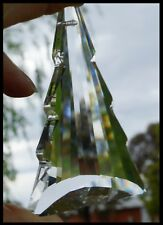 Crystal CHRISTMAS TREE 76mm CLEAR Suncatcher MULTI-FACETED XMAS Prism Pendant