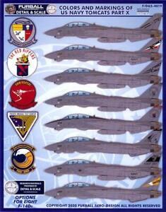 Furball Decals 1/48 GRUMMAN F-14D TOMCAT Colors & Markings U.S. Navy Tomcats #10