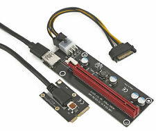 Graphics card plus to laptop | miniPCI e TO X16 PCIe riser Adapter |Via 50cm USB