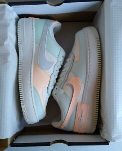 *New* Nike Air Force 1 Low Shadow CU8591-104, Sail/Barely Green, US WMNS Size 10