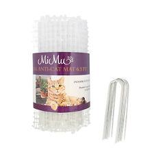 MiMu Cat Deterrent Mat Outdoor Indoor Cat Repellent Spike Mat - Clear 6.5ft Roll