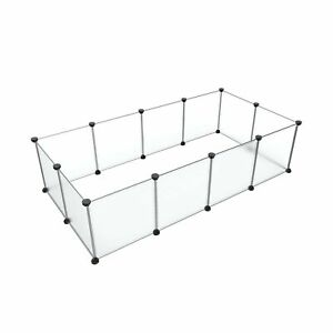 Tespo Pet Playpen, Small Animal Cage Indoor Portable Metal Wire Yard Fence fo...
