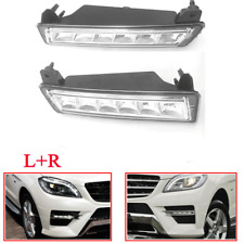 For Mercedes W164 X164 X204 ML350 Pair Set 2 Bumper Daytime Running Lights Lamps