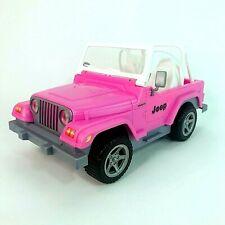 Barbie Doll Jeep Wrangler Pink White Large Mattel 2003 Toy Car Retired Design
