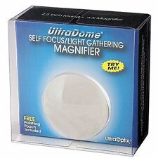 UltraOptix 2.5 inch UltraDome Self Focus Magnifier Dome 4X Banknote Map Stamp