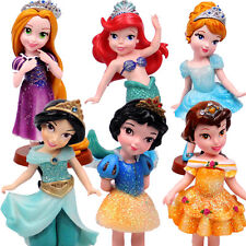 6 FAMOUS DISNEY PRINCESS ACTION FIGURES DOLL CAKE TOPPER DECOR KIDS PLAYSET TOY