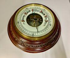Large Antique Aneroid Barometer circa 1910
