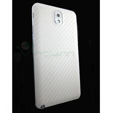 Cover copri batteria pelle Carbon Bianca per Samsung Galaxy Note 3 N9005 nuova