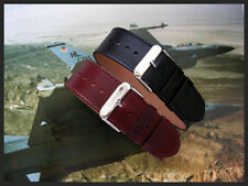 20mm Brown Black 1pc RAF Bomber Pilot Bund nato utc watchband IW SUISSE 16 18 22