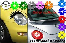 Car Eyelashes Any headlight Flowers Taillight light cover VW bug beetle USA