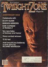 The Twilight Zone Magazine April 1984 Anniversary Issue w/Ml Vg 053116Dbe