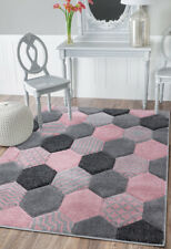 Modern Bright Colourful Vibrant Rug Bedroom Living Room Carpets Value Grey Rugs