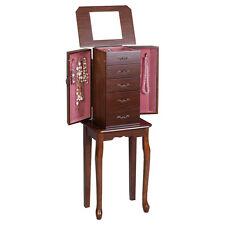Jewelry Cabinet Armoire Storage Chest Stand Organizer Wood Box 2015 New