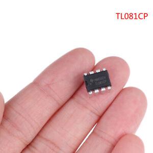 10 pcs TL081CP in-line DIP-8 buffer amplifier w/