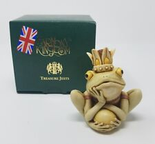 HARMONY KINGDOM CROWN JEWEL KING FROG RWFR RARE NIB