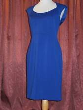 Maggy London Ponte Stretch Knit Open Back Sheath Dress Blue 10 $118