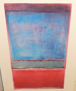 MARK ROTHKO #6 VIOLET,GREEN AND RED LARGE POSTER