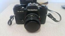 ROLLEIFLEX SL35M FILM CAMERA W/50MM 1.8 PLANAR LENS w/ Lens Cap And Case+Strap
