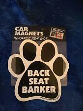 Dog car magnet BACK SEAT BARKER