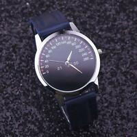 Women's Fashion Stainless Steel Quartz Leather Strap Analog Dial Wrist Watch