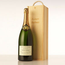 Personalised Wooden any Occasion Champagne / Wine Box with Rope Handle