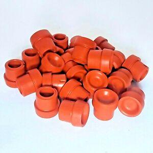 25 Heavy Duty, Red, BD Self Healing Injection Ports for mushroom spawn jar lids