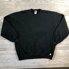 Vintage Russell Athletic Blank Black Crewneck Sweatshirt XL Made in USA U91