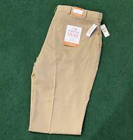 Van Heusen Traveler Mens Big & Tall 44x34 Khaki Stretch Flex Waistband Pants.$80