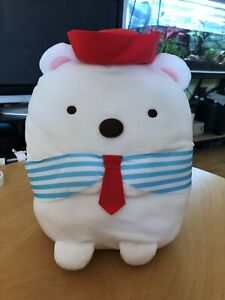 Sumikkogurashi Shirokuma Polar Bear Sailor Marine Plush Big 38cm