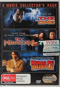 The One / The Medallion / Kung Fu Hustle DVD - NEW SEALED  - Free Post