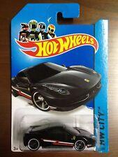 Hot Wheels 2014 035/250 HW City Ferrari 458 Italia Black MOSC