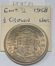 More details for 1958 erii halfcrown 2/6 cupronickel coin toned unc hc9581