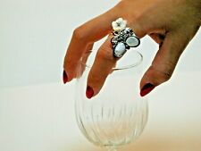A GIFT TO SURPRISE! *WHITE ~ Abalone Shell Butterfly  Ring*