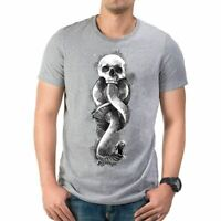 Mens Harry Potter Dark Art Snake Grey T-Shirt - Unisex Death Eater Tee
