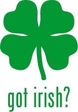 "Got Irish Car Window Decor Vinyl Decal Sticker- 6"" Tall White"