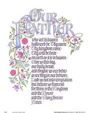 Our Father - The Lord's Prayer: Inspirational 8x10 In. Art Print